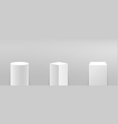 Podium or pedestal set in different forms vector