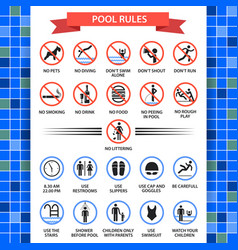 Pool rules poster vector