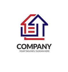 property and construction logo vector image