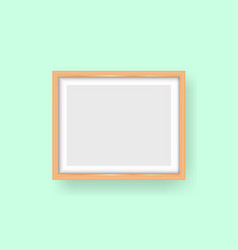 realistic wooden frame isolated perfect frame vector image
