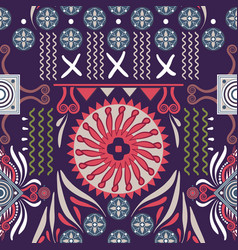 seamless ethnic pattern colorful backdrop vector image