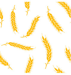 seamless pattern simple ears wheat vector image