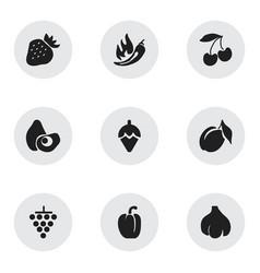 Set of 9 editable dessert icons includes symbols vector