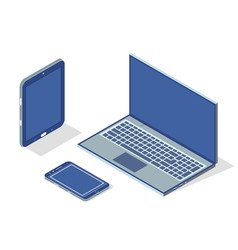 smartphone laptop tablet set vector image
