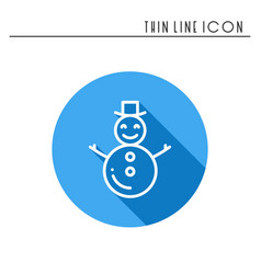 snowman thin line icons set new year celebration vector image