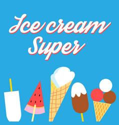 Super delicious ice cream poster vector