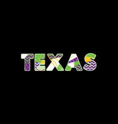 Texas concept word art vector
