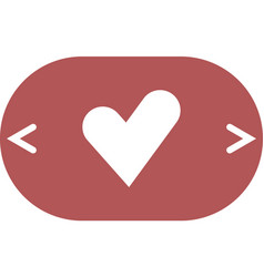 The heart and cardiogram icon vector
