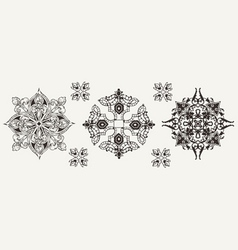 Three Ornate Elements vector image