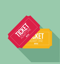 Tickets icon flat design vector