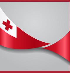 Tonga wavy flag vector