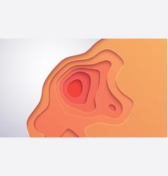 topographic map paper art vector image