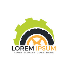 tyre logo design vector image