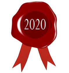 Wax stamp 2020 vector