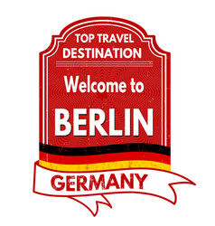 Welcome to berlin stamp vector