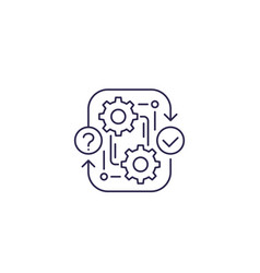 Workflow procedure icon line vector