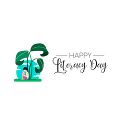 world literacy day web banner for kid education vector image