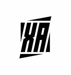 Xa logo monogram with modern style concept design vector