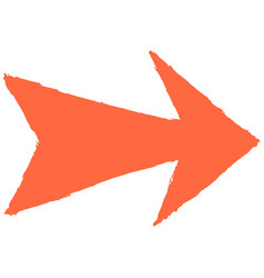 arrow sign sketch drawing vector image vector image