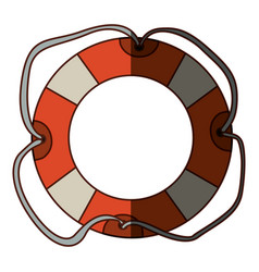 colorful flotation hoop with tether and middle vector image