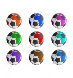 world soccer balls vector image vector image