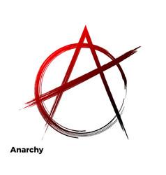 anarchy grunge symbol vector image vector image