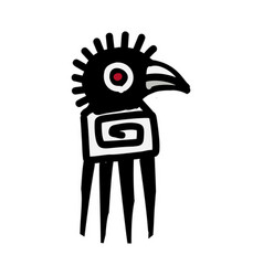 bird icon aztec vector image