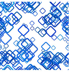 Blue seamless square pattern background - from vector