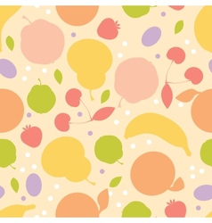 Colorful fruit seamless pattern background vector image vector image
