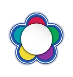 frame in the shape of a flower Sticker vector image vector image