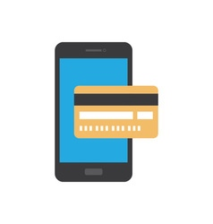 Mobile payment icon vector image vector image