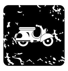 Scooter motorbike icon grunge style vector image