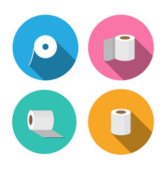tissue paper icons in flat style vector image