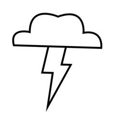 brainstorm cloud lighting creative ideas concept vector image