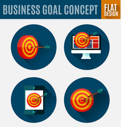 Business goal concept vector