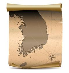 Korea Vintage Map vector image