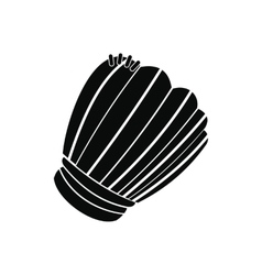 Leather baseball glove black simple icon vector image