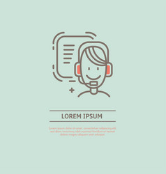 line phone manager logo vector image