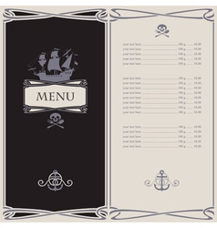 menu skull vector image vector image