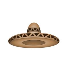 sombrero fashion brown hat modern elegance cap vector image