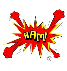 bam text vector image vector image