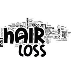 best male hair loss products text word cloud vector image