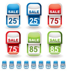 discount tag sale vector image vector image