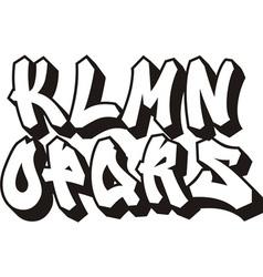 graffiti font part 2 vector image vector image
