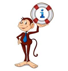 Monkey Kiosk Sign vector image vector image
