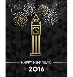 New year 2016 london uk europe travel gold vector