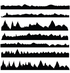 silhouettes mountain vector image