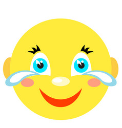 smiley laughs and cries vector image vector image