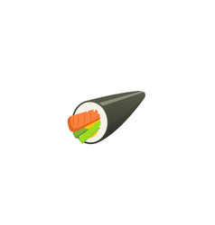 traditional japanese sushi and roll asian seafood vector image vector image