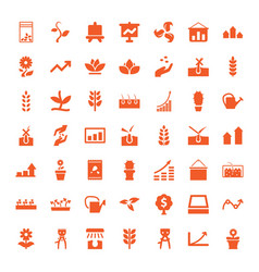 49 grow icons vector image